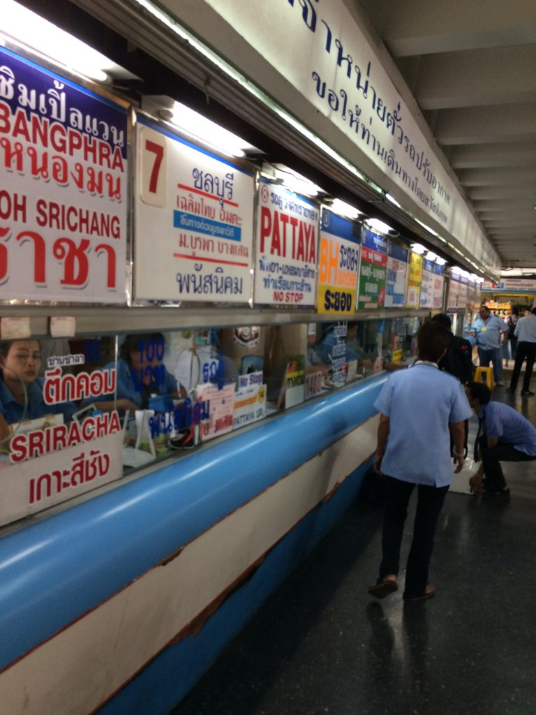 ticket counter to Pattaya