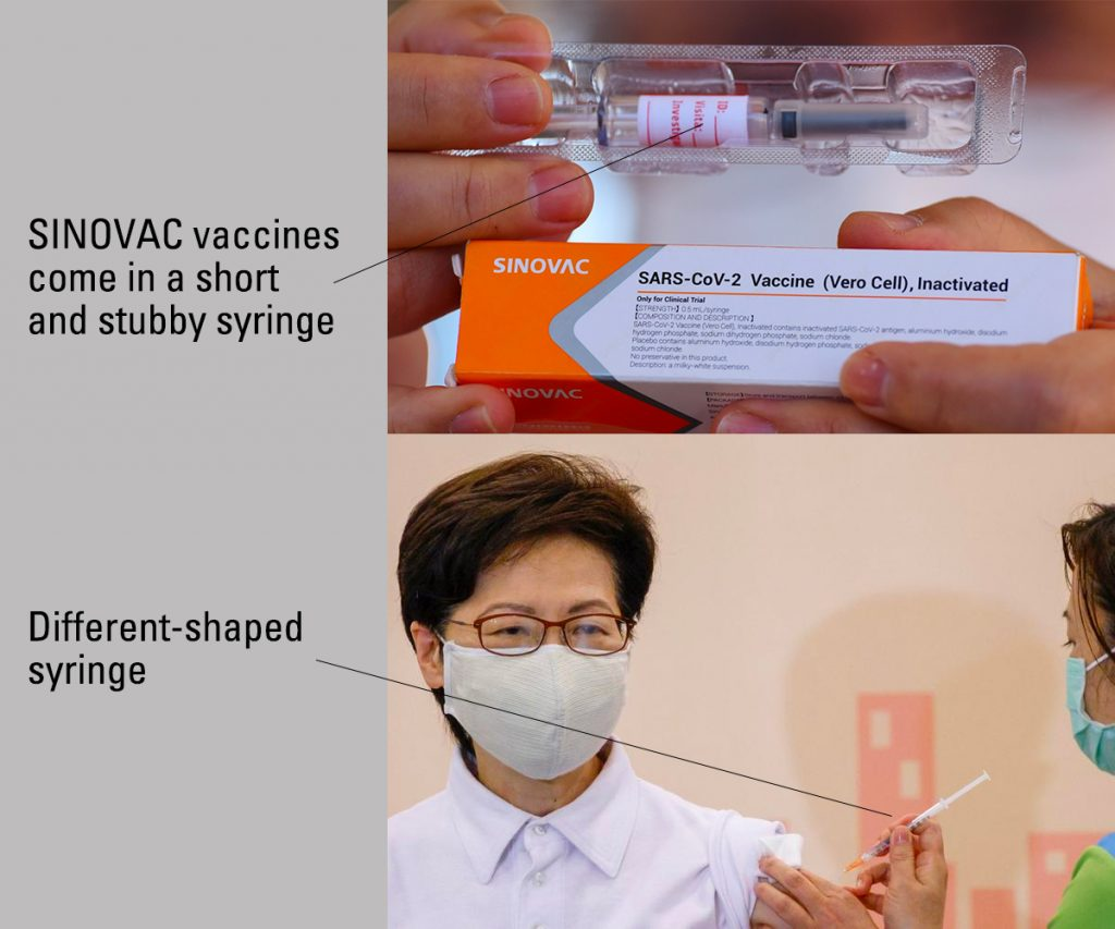 Hong Kong Faked Vaccination Carrie Lam